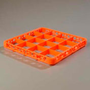Carlisle RE16C24 - Opticlean™ 16-Compartment Divided Glass Rack Extender, Orange - Pkg Qty 6