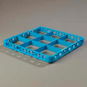 Carlisle RE914 - Opticlean™ 9-Compartment Divided Glass Rack Extender, Carlisle Blue - Pkg Qty 6