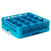 Carlisle RG16-114 - Opticlean™ 16-Compartment Glass Rack W/ 1 Extender, Carlisle Blue - Pkg Qty 4
