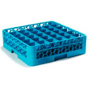 Carlisle RG36-114 - Opticlean™ 36-Compartment Glass Rack W/ 1 Extender, Carlisle Blue - Pkg Qty 4