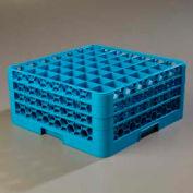 Carlisle RG49-314 - Opticlean™ 49-Compartment Glass Rack W/ 3 Extenders, Carlisle Blue - Pkg Qty 2