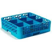 Carlisle RG9-114 - Opticlean™ 9-Compartment Glass Rack W/ 1 Extender, Carlisle Blue - Pkg Qty 4