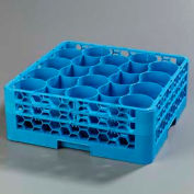 Carlisle RW20-114 - Opticlean Newave 20-Compartment Glass Rack W/ 2 Extenders, Carlisle Blue - Pkg Qty 3