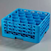 Carlisle RW20-214 - Opticlean Newave 20-Compartment Glass Rack W/ 3 Extenders, Carlisle Blue - Pkg Qty 2