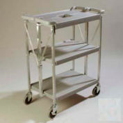Carlisle® SBC152123 Fold 'N Go® Cart 15x21 - Grey