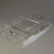 "Carlisle SC2507 - Pastry Tray Cover, 26"" x 18"" x 4"", Clear Acrylic, Polished Chrome Handle"