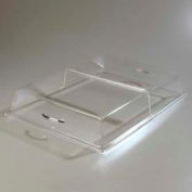 """Carlisle SC2907 - Pastry Tray Cover, 20"""" x 12"""" x 4"""", Hinged, Clear Acrylic, Polished Chrome Handle - Pkg Qty 3"""