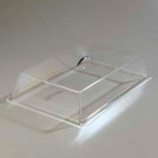 """Carlisle SC4007 - Pastry Tray Cover, 18"""" x 13"""" x 4"""", Clear Acrylic, Polished Chrome Handle"""