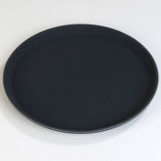 "Carlisle TB1600004 Truebasic Round Tray 16"" - Black - Pkg Qty 12"