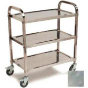 Carlisle® UC4031733 Stainless Steel Knockdown Utility Cart 400 Lb Cap 17x33
