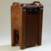 Carlisle XT500001 - Cateraid Beverage Server, 5 Gallon, Insulated, Wide Sure-Latch™, Brown