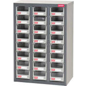 """Shuter Parts Drawer Cabinet, 24 Drawers, Floor unit, 17-1/2""""W x 8-3/4""""D x 25-1/4""""H"""