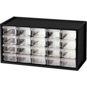 "Shuter Parts Drawer Cabinet, 20 Drawers, Bench Style, 14-3/4""W x 6""D x 7-3/8""H"