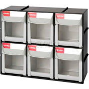 "Shuter Flip Out Bin, 6 Compartments, 12""W x 4""D x 10""H"