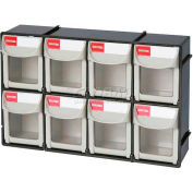 "Shuter Flip Out Bin, 8 Compartments, 12""W x 3.5""D x 8""H"