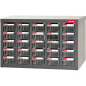 """Steel Shuter Parts Drawer Cabinet, 25 Drawers, Bench Style, 23""""W x 8-3/4""""D x 13-3/4""""H"""
