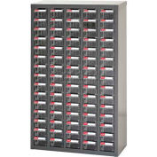 "Steel Shuter Parts Drawer Cabinet, 75 Drawers, Floor unit, 23""W x 8-3/4""D x 36-13/16""H"