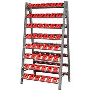 "Shuter CNC Taper 50 Tool Wall Rack, 80 Tool Holders, 35""W x 25""D x 67""H"