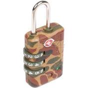 Ccl Security Sesamee® Searchalert® Tsa Padlock 3 Dial, Camouflage - Pkg Qty 18