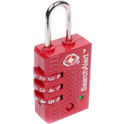 CCL Security Sesamee® Searchalert® TSA Padlock  3 Dial, Red, Twin Pack - Pkg Qty 12