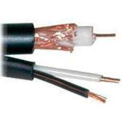 Convergent 5015BK1S RG59/U + 18/2 Siamese Camera Cable CMR 1,000 Ft. Spool Black