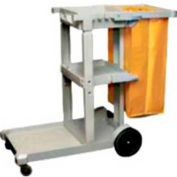 "Cortech USA, D-011B, Janitor Cart, 3 Shelves, 8"" Rear Rubber Wheels, 3"" Front Casters"