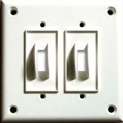Cortech USA, TPDS, High Security Double Switch Cover Plate, W/Hardware