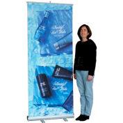 """SpeedPress® Slim Line Roll Up Banner Holder 34"""" Wide"""