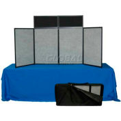 "Folding Panel Display, (4) 3' x 2' Panels And (2) 8"" x 21"" Header, BL/BK"