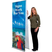 """Flexi Banner Stand, Double Sided, 24""""W"""