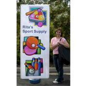 "SpeedPress® Wind Wise Outdoor Banner Stand 54""-78""H"