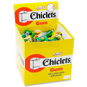 Chiclets Candy Coated Gum, Peppermint, 2 Pieces/Pack, 200/Box