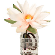 Creative Displays Pink, White, & Green Lotus In Square Glass Vase