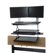 Uncaged Ergonomics CDM-B CHANGEdesk - Adjustable Height Standing Desk Conversion, Black