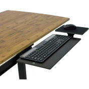 Uncaged Ergonomics KT1-B Adjustable Under Desk Keyboard Tray, Black