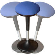 Uncaged Ergonomics Adjustable Height Wobble Stool Swivel Chair - Blue