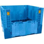 Buckhorn Folding Bulk Shipping Container - BN4845342023000 - 48x45x34 2500 Lbs. Blue