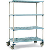 "Metro METROMAX Q Shelf Trucks with Microban Finish - 60"" Wx24"" D Shelf - 68"" H"
