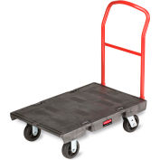 "Rubbermaid Platform Trucks - 60""Lx30""W Deck - Pneumatic"