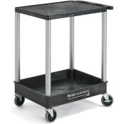 Relius Solutions Tray-Shelf Carts With Nickel Legs - 2 Shelves - Flush Top