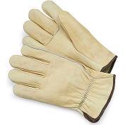 Memphis Driver's Gloves - Shirred Elastic, Premium Grain Back, Large