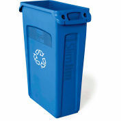 Rubbermaid® Slim Jim Vented Recycling Container 3540-07 - Blue