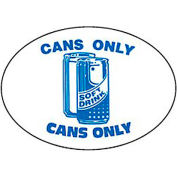 Techstar Bullseye Oval Labels For Recycling Containers - Cans Only