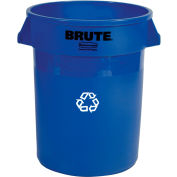 Rubbermaid Brute Bulk Recycling Collector - Round Container - 44-Gallon Capacity