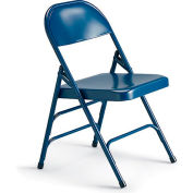 "KI 300 Series Folding Chair with Double U-Brace - 18-1/4x19-3/4x30-1/4"" Blue - Pkg Qty 4"