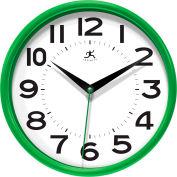 "Infinity / ITC  Metro Wall Clock - 9"" Diameter Green"