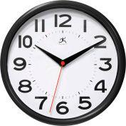 "Infinity / ITC  Metro Wall Clock - 9"" Diameter Black"