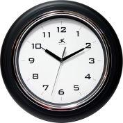 "Infinity / ITC  Deluxe Clock - 12-1/2"" Diameter Black"