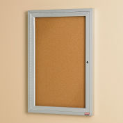 "Relius Solutions Cork Board With Aluminum Frame - 18X24"" - 1 Door- Indoor"