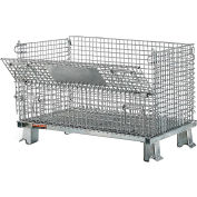 "Relius Solutions Collapsible Wire Containers With Zinc-Plated Finish - 32""Wx20""Lx21""H - 1X1"" Mesh"